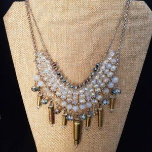 Bullets, Crystals & Bling Necklace .